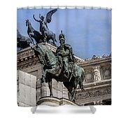 Vittorio Emanuele II Monument In Rome Shower Curtain