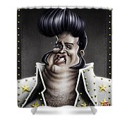 Viva Las Vegas Elvis Shower Curtain