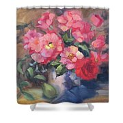 Vivacious Roses Shower Curtain