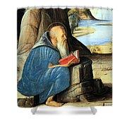 Vivarini's Saint Jerome Reading Shower Curtain