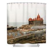 Vivekananda Memorial Shower Curtain