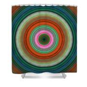 Vivid Peace - Circle Art By Sharon Cummings Shower Curtain