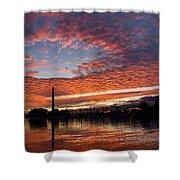 Vivid Skyscape - Summer Sunset At Toronto Beaches Marina Shower Curtain