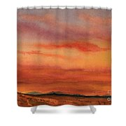 Vivid Sunset Shower Curtain