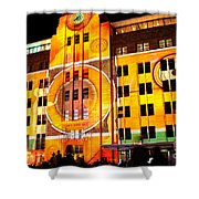 Vivid Sydney 2014 - Museum Of Contemporary Arts 2 By Kaye Menner Shower Curtain