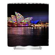 Vivid Sydney 2014 - Opera House 5 By Kaye Menner Shower Curtain