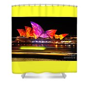 Vivid Sydney By Kaye Menner - Opera House ... Triangles Shower Curtain
