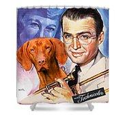 Vizsla Art Canvas Print - The Glenn Miller Story Movie Poster Shower Curtain