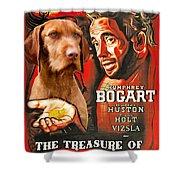 Vizsla Art Canvas Print - The Treasure Of The Sierra Madre Movie Poster Shower Curtain