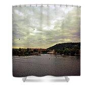 Vltava View Revisited - Prague Shower Curtain