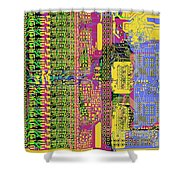 Vo96 Circuit 4 Shower Curtain