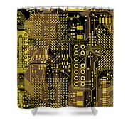 Vo96 Circuit 5 Shower Curtain