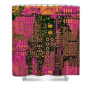 Vo96 Circuit 6 Shower Curtain
