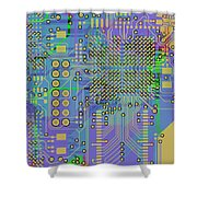 Vo96 Circuit 7 Shower Curtain