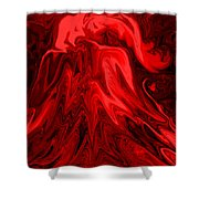 Red Volcanic Dreams Shower Curtain