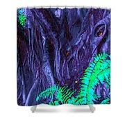 Volcanic Tree 2 Shower Curtain
