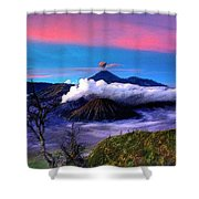 Volcano In The Clouds Shower Curtain