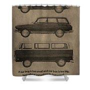 Volkswagen Advertisement Shower Curtain