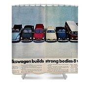 Volkswagen Builds Strong Bodies Eight Ways Shower Curtain