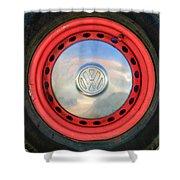 Volkswagen Vw Wheel Emblem Shower Curtain
