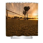 Volley Sunrise  Shower Curtain