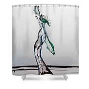 Volleyball Splash Shower Curtain