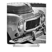 Volvo Black And White Shower Curtain