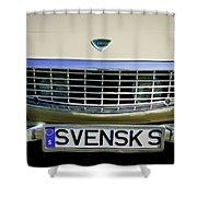 Volvo Grille Emblem -0198c Shower Curtain
