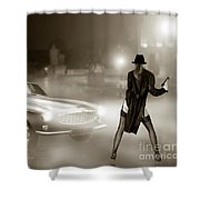 Volvo P1800 And Hot Detective Shower Curtain