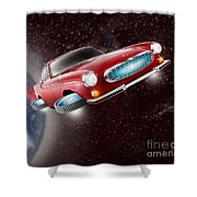 Volvo P1800 Goes Back To The Future Shower Curtain
