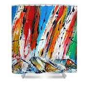 Abstract Sials - Available As A Signed And Numbered Print On Stretched Canvas See Pixi-art.com  Shower Curtain