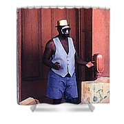 Voodoo Busker In New Orleans Shower Curtain