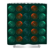 Vortices Shower Curtain