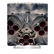 Vostok Rocket Engine Shower Curtain