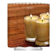 Votive Candle Burning Shower Curtain