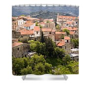 Vouni Village Shower Curtain