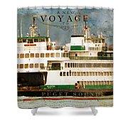 Voyage To Puget Sound Shower Curtain