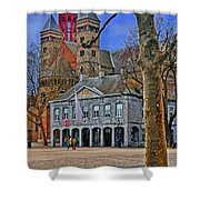 Vrijthof Square Shower Curtain