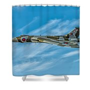 Vulcan Bomber Shower Curtain by Adrian Evans