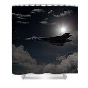 Vulcan Moon  Shower Curtain