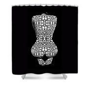 Nude Art - Vulnerable - Black And White By Sharon Cummings Shower Curtain