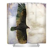 Vulture In Color Shower Curtain