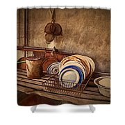 Vulture Kitchen Shower Curtain