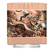 Vulture Supremacy Shower Curtain