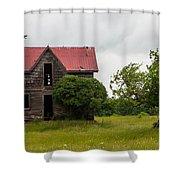 Vultures On A Farmhouse Shower Curtain