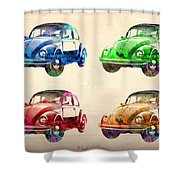 Vw 2 Shower Curtain