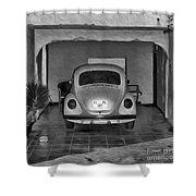 Vw Beetle Digital Painting Shower Curtain