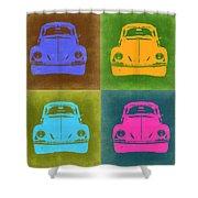 Vw Beetle Pop Art 6 Shower Curtain by Naxart Studio