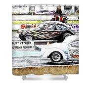 Vw Beetle Race Shower Curtain