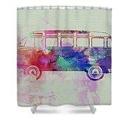 Vw Bus Watercolor Shower Curtain